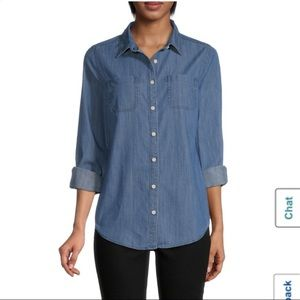 Women's St. John's Bay denim button up